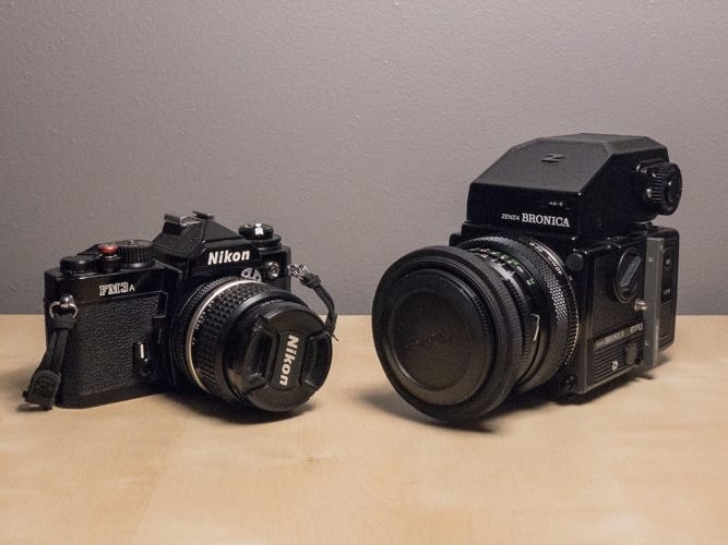 New to the collection: Nikon FM3a and Bronica ETR-Si